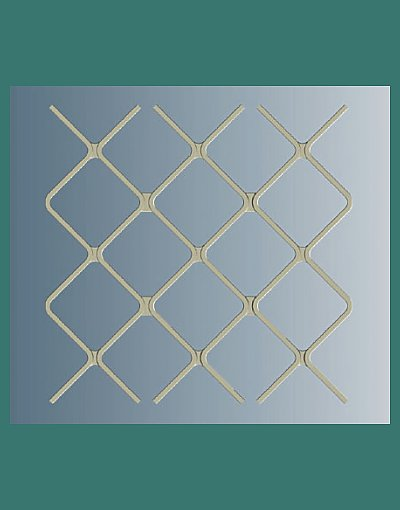 A117 Small Diamond security door pattern