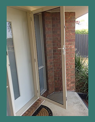 INVISI-GARD security screen door have clear vision