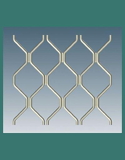 Standard 7mm Diamond security door pattern