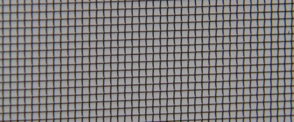 Aluminium mesh for fly screens and security doors